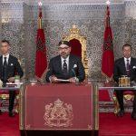 Le roi Mohammed VI (au centre) réitérant son appel à élaborer un nouveau modèle de développement, dans son discours prononcé le 29 juillet 2019 à Tétouan (image d'illustration).