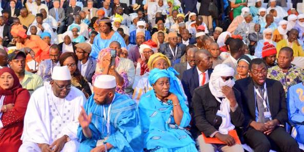 Lors du lancement du Dialogue national inclusif, le 14 décembre 2019 à Bamako.