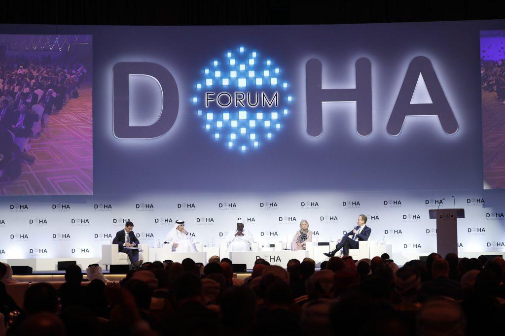 Lors du débat pendant lequel est intervenu le président de la Commission de l'Union africaine, Moussa Faki, lors du Forum de Doha, au Qatar, le 14 décembre 2019.