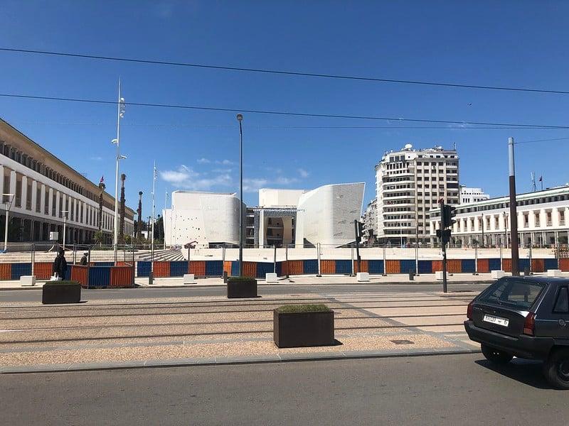 Chantier du grand théâtre de Casablanca