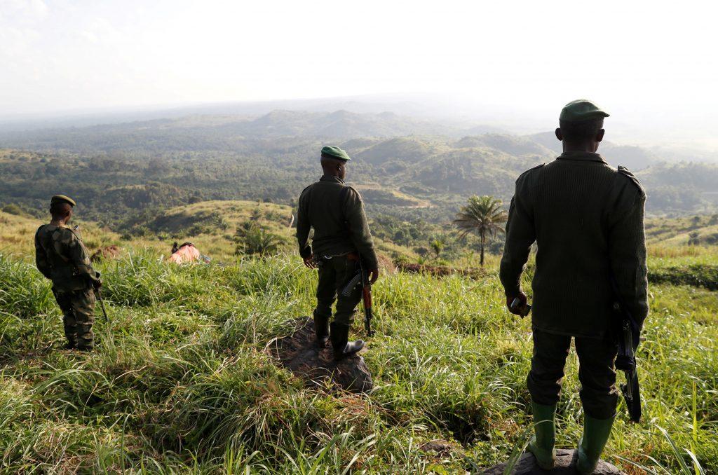 Des soldats des FARDC lors d'une opération ciblant les rebelles ADF, près de Beni, en décembre 2018 (illustration).