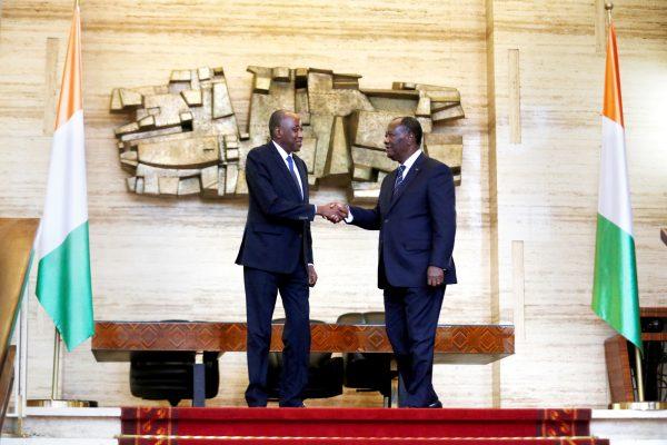 Le président ivoirien, Alassane Ouattara, et son dauphin putatif, le Premier ministre, Amadou Gon Coulibaly.