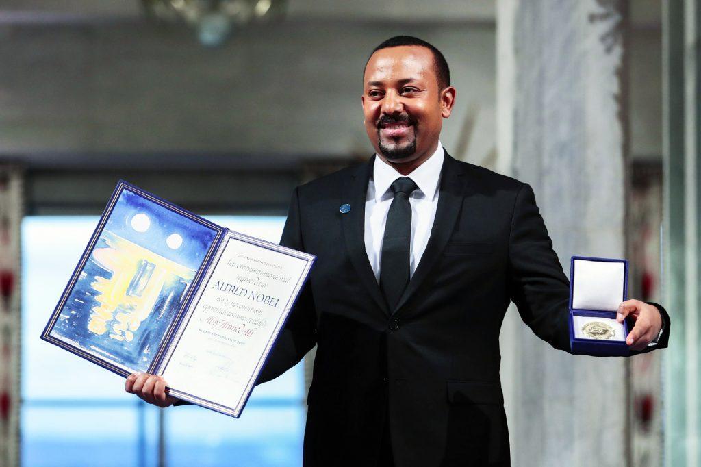 Le Premier ministre éthiopien, Abiy Ahmed, lauréat du prix Nobel de la paix 2019.