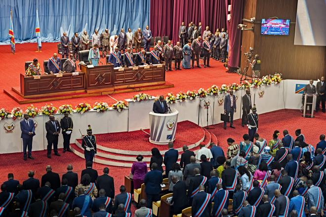 RDC : un premier grand oral animé pour Félix Tshisekedi