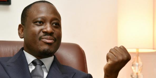 Guillaume Soro, le 25 mars 2015 à Abidjan.