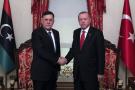 Fayez al Sarraj et Recep Tayyip Erdogan, le 27 novembre 2019 à Istanbul.
