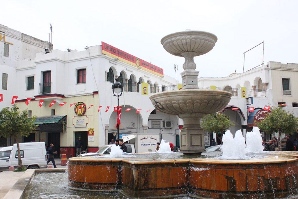 Le siège de l'Espérance sportive de Tunis, à Bab Souika, dans la capitale tunisienne.