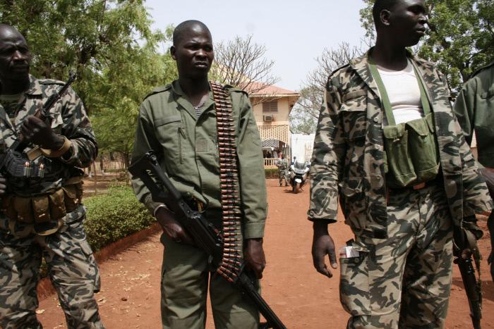 Quartier général du capitaine Amadou Sanogo à Kati, en mars 2012.