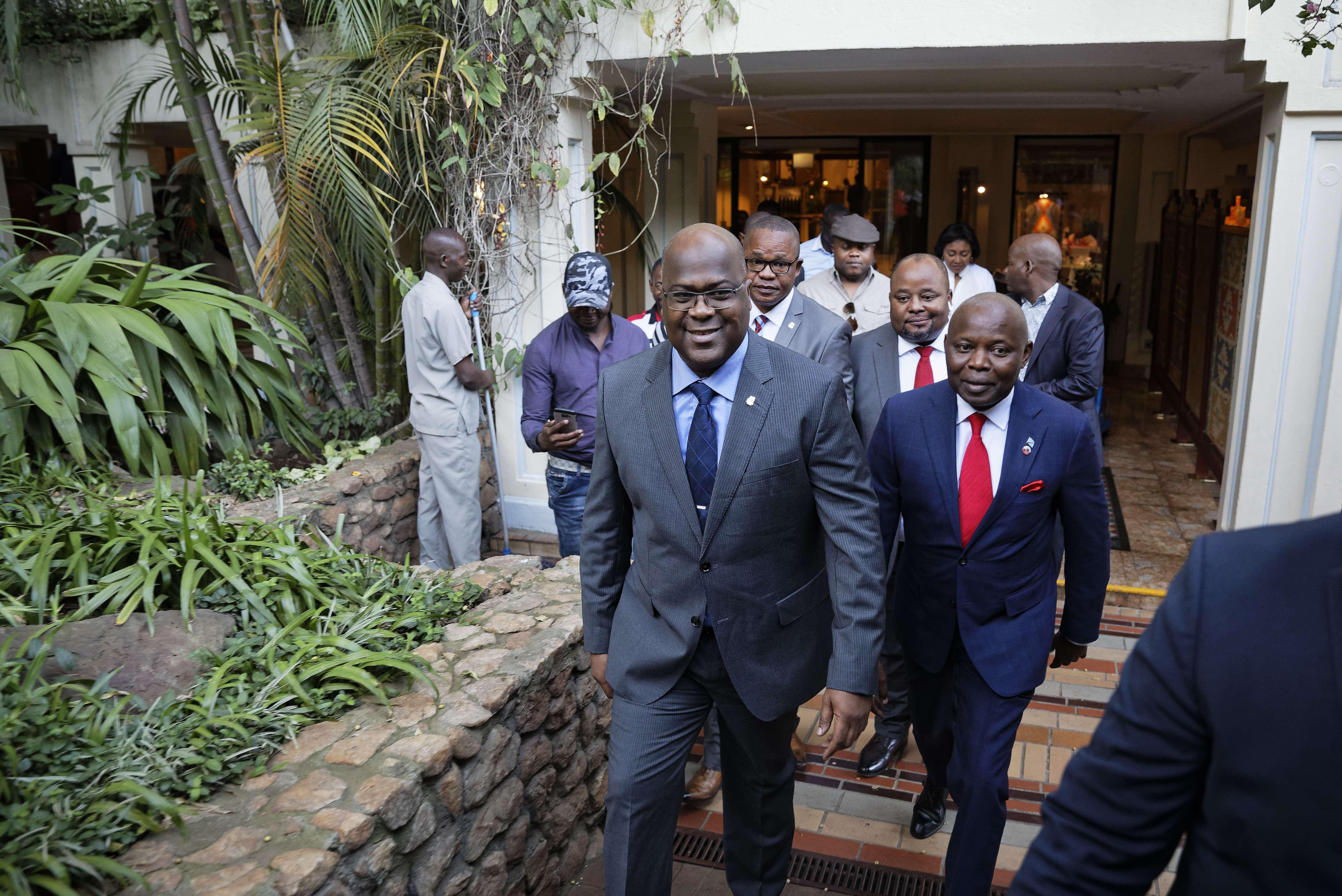 Le président Félix Tshisekedi aux côtés de Vital Kamerhe, le 23 novembre 2018.