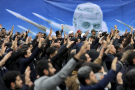 Des manifestants à Téhéran le 4 janvier 2020, après le raid américain qui a tué Qassem Soleimani.
