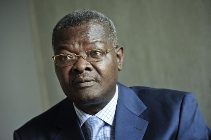 Agbéyomé Kodjo, ici en avril 2013 à Paris, a annoncé sa candidature à la présidentielle du 22 février 2020 au Togo sous les couleurs de la coalition des Forces démocratiques.