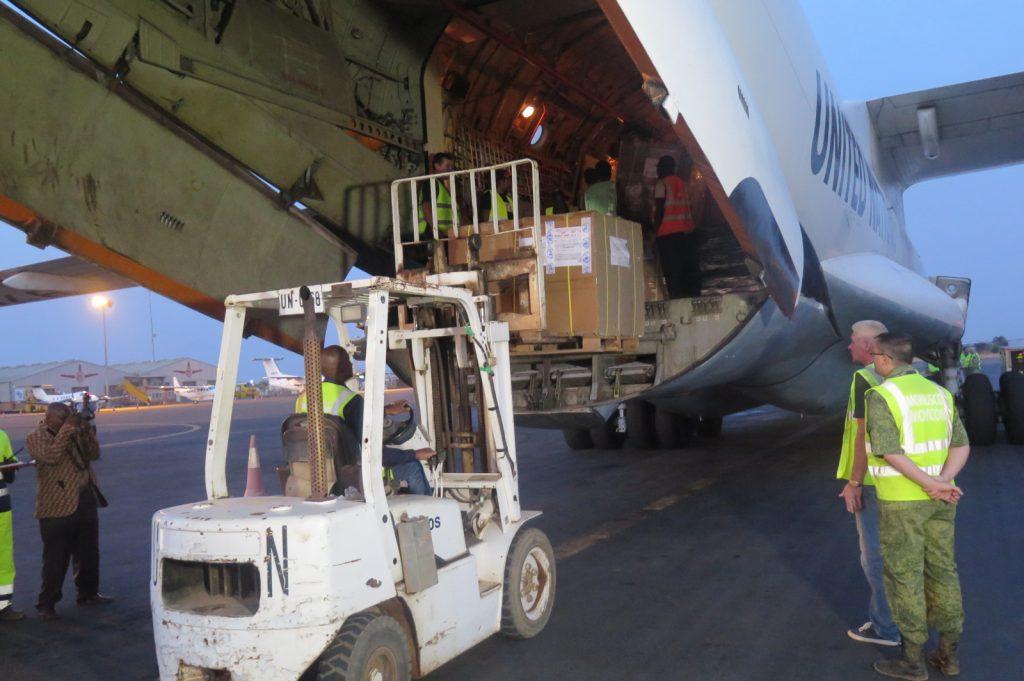 Remplissage d'un avion de la Monusco à l'aéroport de la Luano de Lubumbashi, en RDC (illustration)