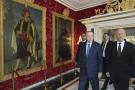 Le président turc Recep Tayyip Erdogan en visite à Tunis, aux côtés de son homologue tunisien Kaïs Saïed, le 25 décembre 2019.