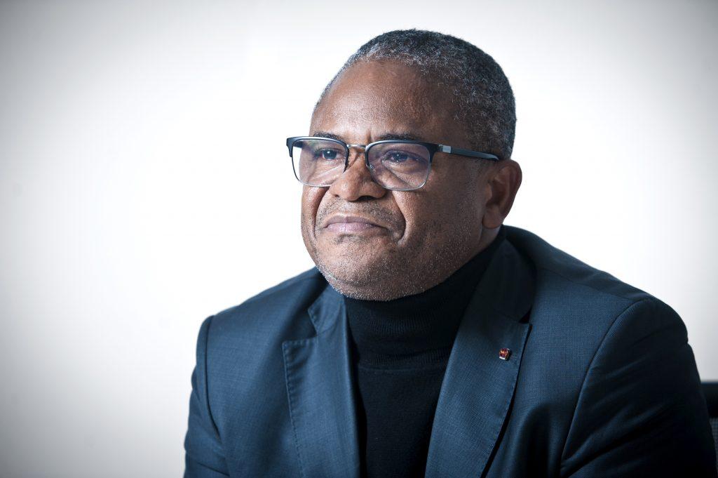 Victor Topanou, ancien ministre béninois de la Justice, à Paris, en décembre 2019.