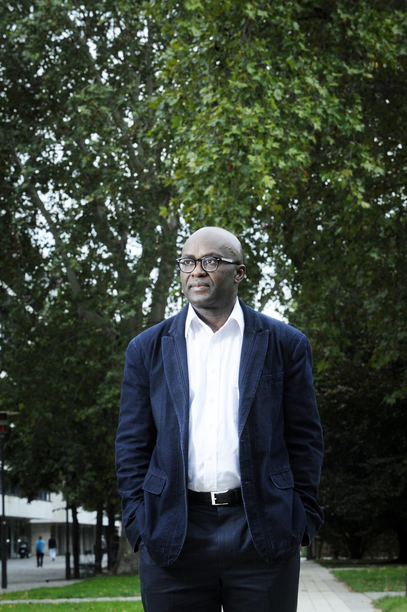Achille Mbembe, à Paris, le 10 octobre 2013.