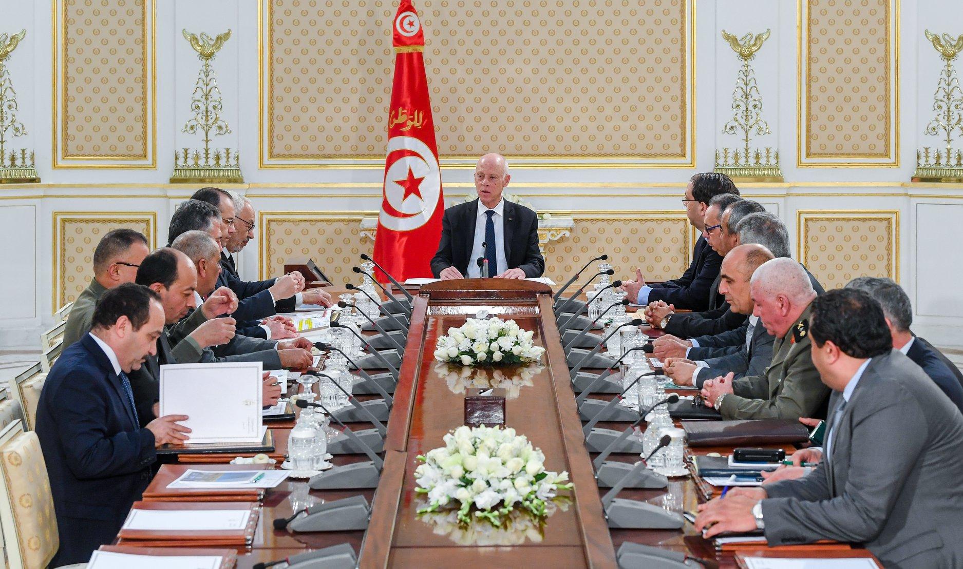 Réunion à Carthage du Conseil national de sécurité sur la crise libyenne le mardi 7 janvier 2020.