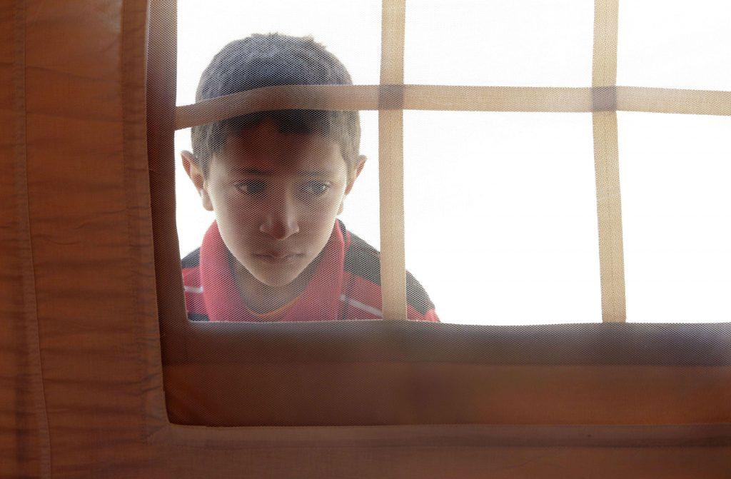 Un enfant libyen, en 2011, dans un camps de réfugiés de la Croix-Rouge, en Tunisie, près de la frontière. (Archives).