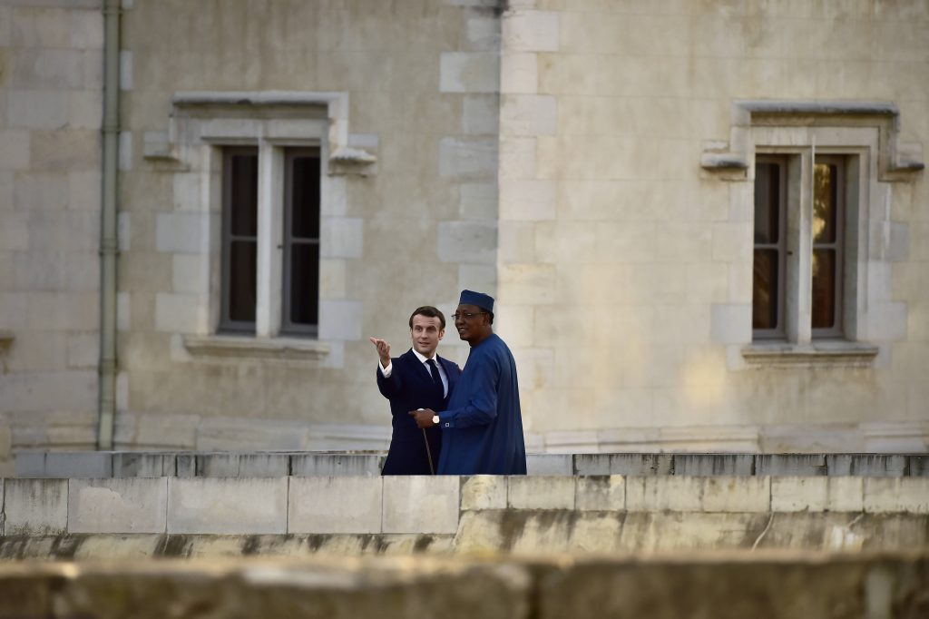 Emmanuel Macron et Idriss Deby Itno, à Pau le 13 janvier 2019.