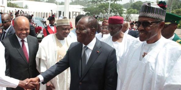 Muhammadu Buhari et Alassane Ouattara
