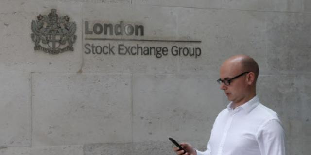 Façade du London Stock Exchange (Bourse de Londres)