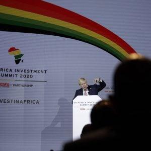 Discours d'ouvertude du Premier binistre britannique Boris Jonhson, durant le premier Sommet Royaume-Uni – Afrique, le 20 janvier 2020 à Londres.