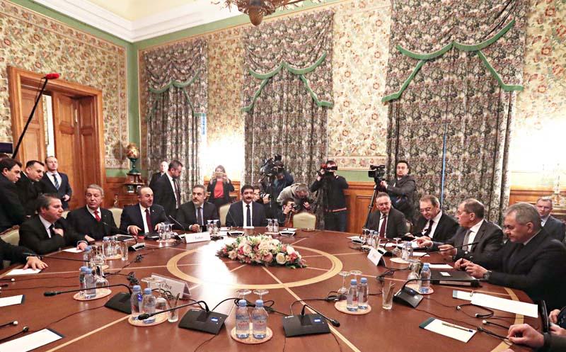 Réunion russo-turque à Moscou, le 13 janvier.