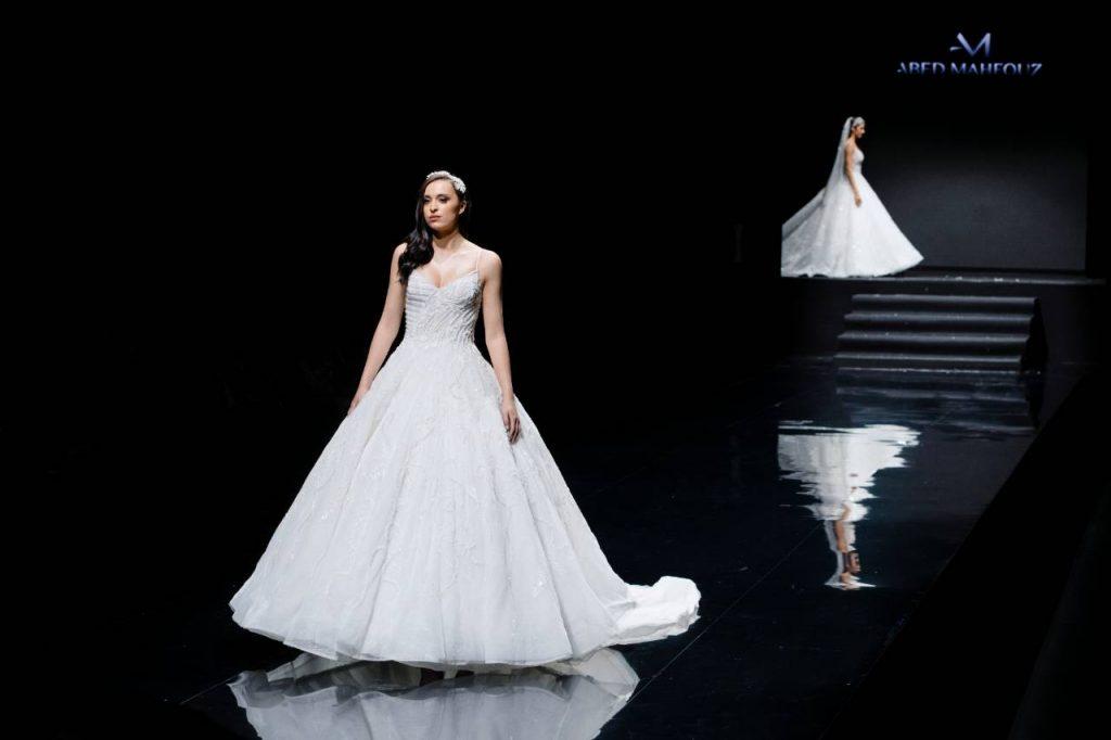 Une robe de mariée signée du Libanais Abed Mahfouz.