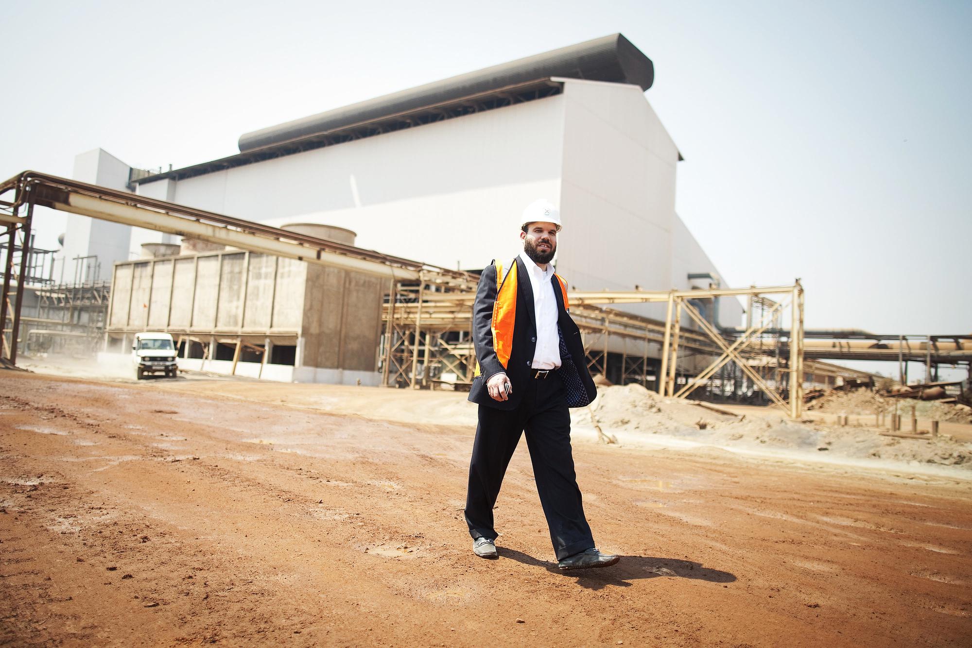 L'homme d'affaires israélien Dan Gertler, à Kolwezi, en 2012.