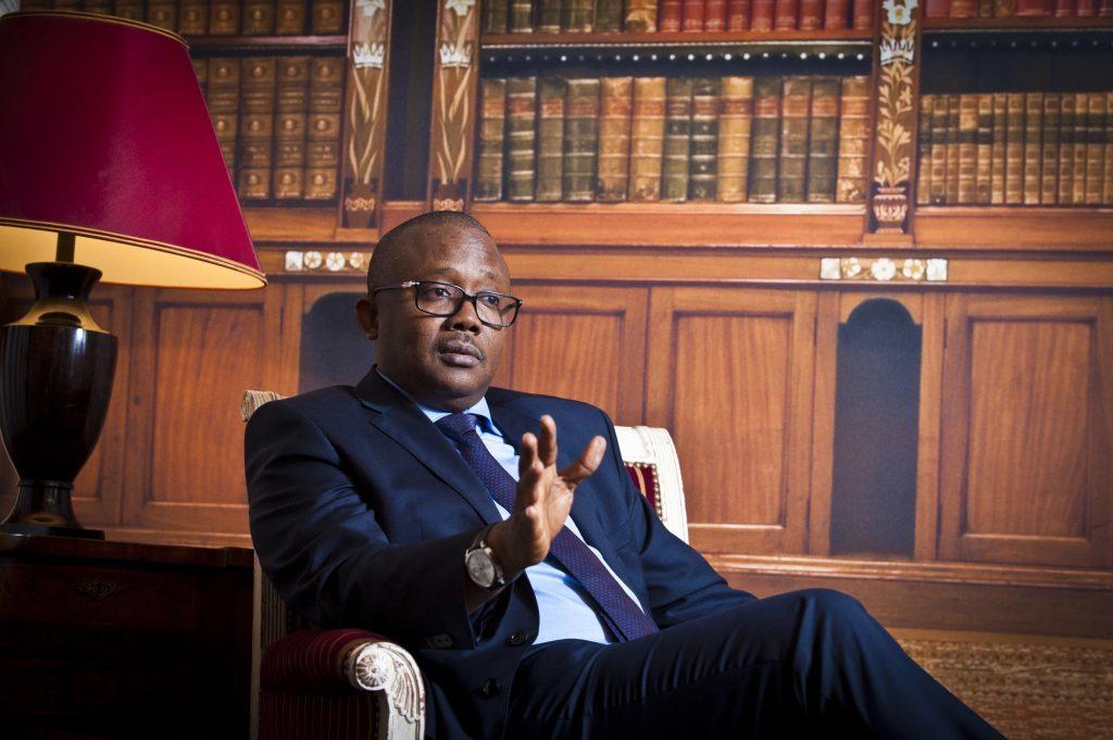 Umaro Sissoco Embaló, déclaré vainqueur de l'élection présidentielle en Guinée-Bissau. À Paris, le 21 janvier 2020.