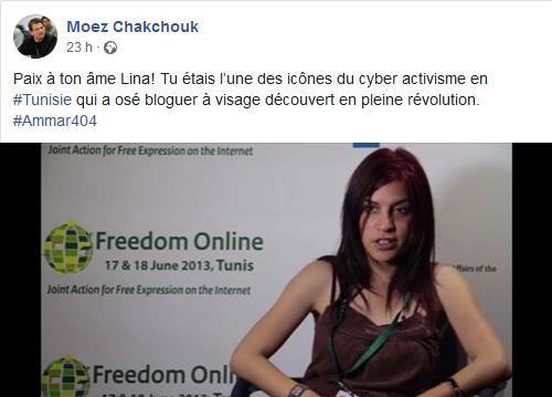 Hommage de Moez Chakchouk, ex directeur de l'Agence tunisienne de l'internet (ATI).