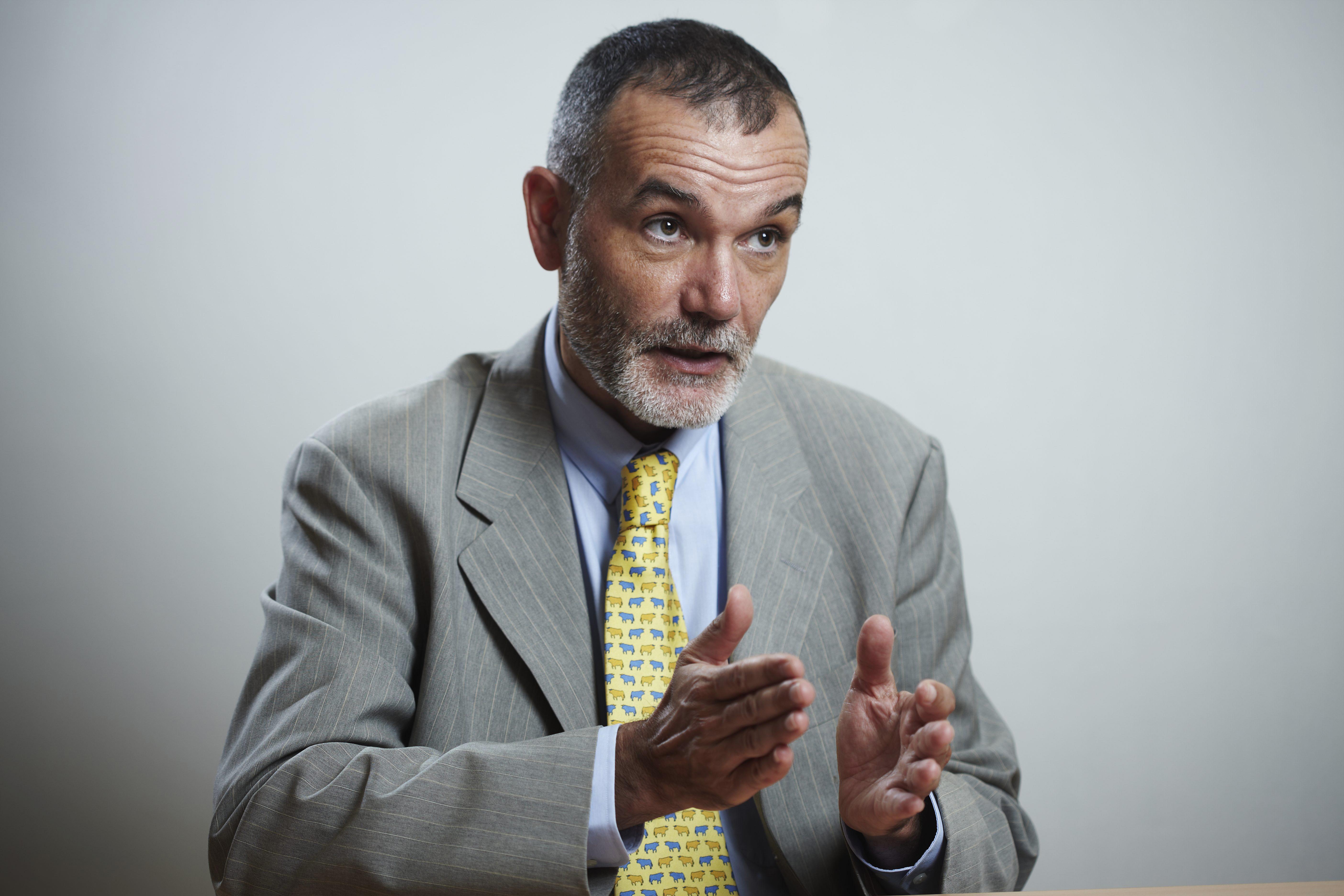 Jean-Pierre Filiu (France), historien, professeur à Sciences-Po Paris, lors d'une visite (interview) à Jeune Afrique, le 26 juillet 2010, à Paris.