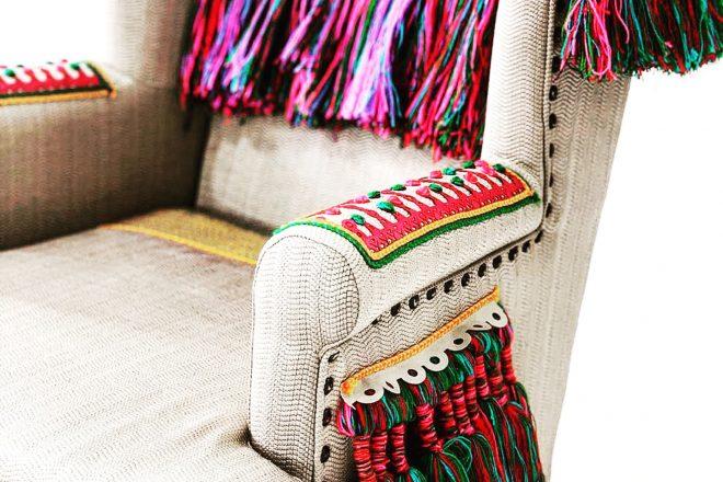 Le fauteuil Mad In Bled du designer Hicham El Madi