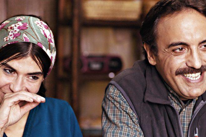 """Les acteurs Lubna Azabal et Aziz Hattab, à l'affiche du film marocain """"Adam"""" de Maryam Touzani."""