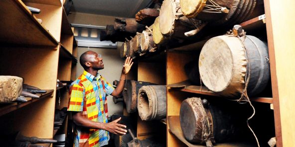 Au Musée des civilisations de Côte d'Ivoire, à Abidjan.
