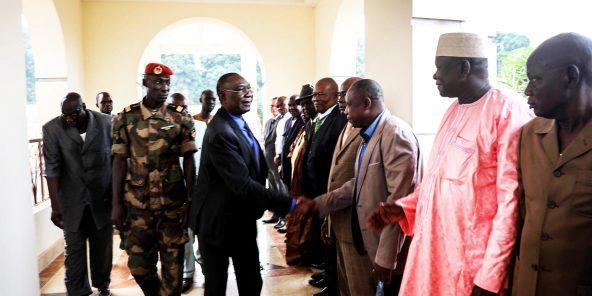 Michel Djotodia, à Bangui, le 10janvier.