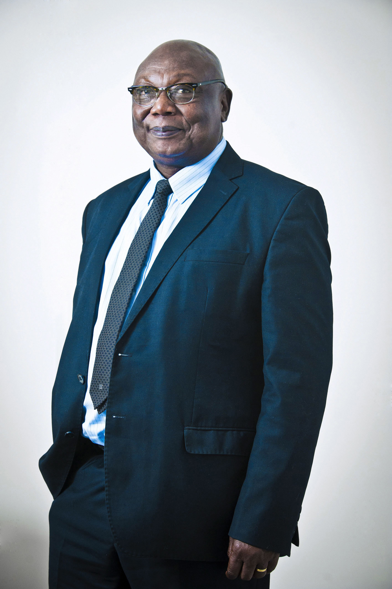 Martin Ziguele (RCA - Centrafrique), ancien Premier ministre du President Patasse de 2001 a 2003, candidat a l'election presidentielle de 2015 et toujours president du Mouvement pour la Liberation du Peuple Centrafricain (MLPC). A Paris le 20/11/2019. Poto: Vincent Fournier/JA.