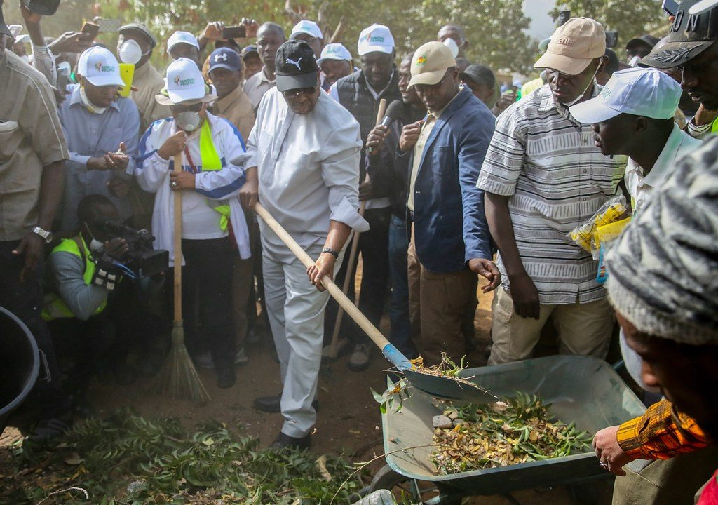Le président sénégalais Macky Sall lors du