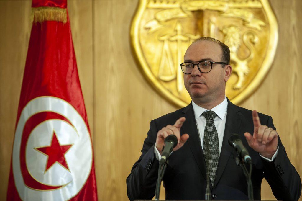 Le chef du gouvernement tunisien,  Elyes Fakhfakh, le 24 janvier 2020.