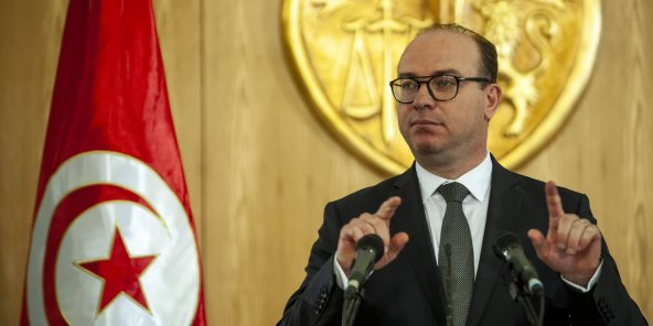 Tunisian head of government Elyes Fakhfakh, January 24, 2020.