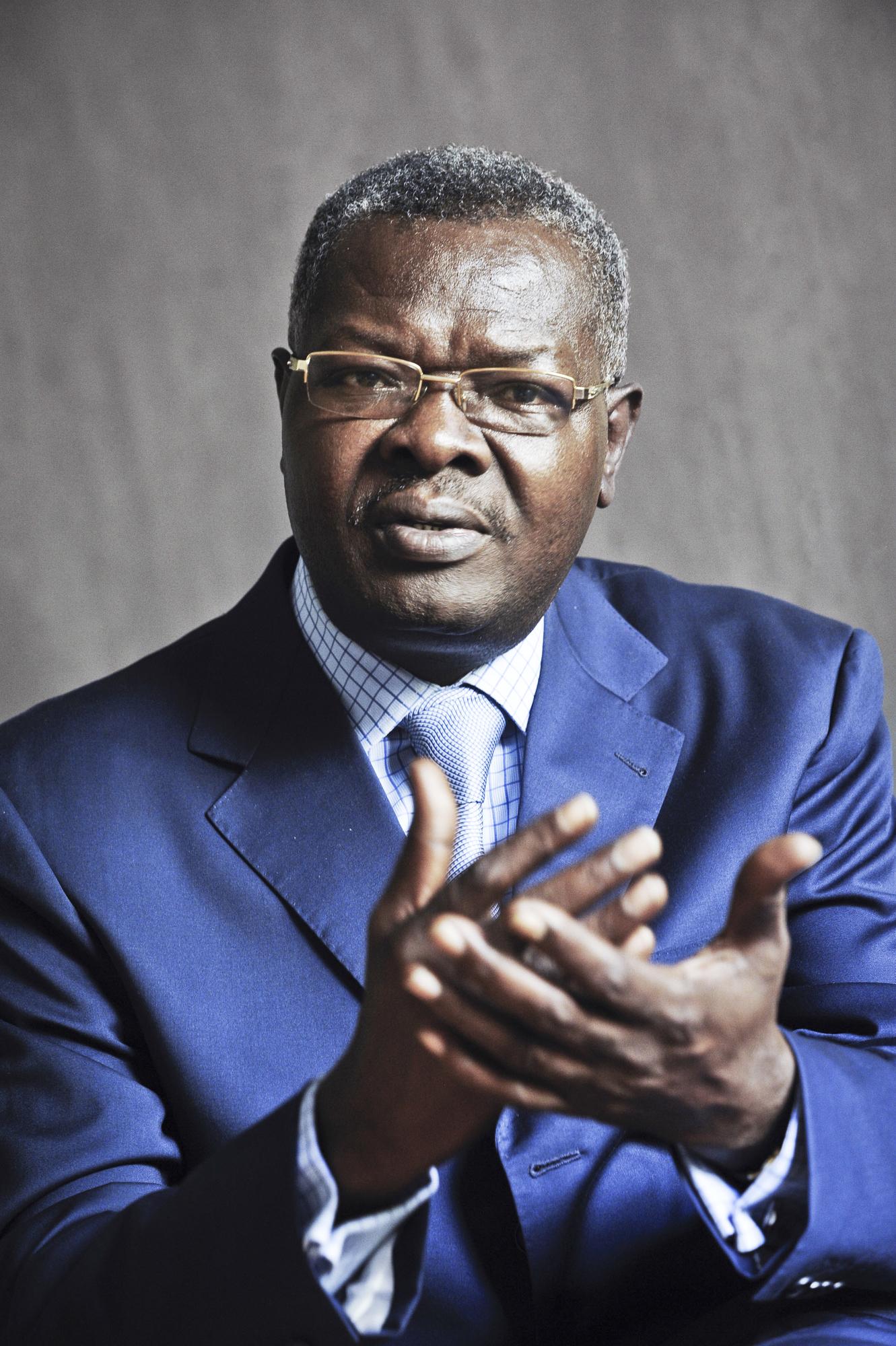 Agbeyome Kodjo (Togo), homme politique, ancien Premier ministre du président Eyadema. A Paris, le 17 avril 2013. Photo de Vincent Fournier/Jeune Afrique