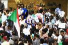 Manifestation devant la Primature, à Khartoum, le 30janvier 2020. Lafoule réclame une accélération des réformes.