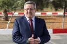 PDG de Sonatrach Abdelmoumen Ould Kaddour à Tébessa (Algérie) le 26 novembre 2018,  lors signé des documents de coopération pour la mise en œuvre Un méga projet intégré d'une valeur de 6 milliards de dollars américains pour l'exploitation du phosphate dans l'est de l'Algérie.