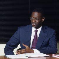 Tidjane THIAM (Côtes d'Ivoire), Directeur du Bureau national d'études techniques et de développement (BNEDT) en 1998 à Abidjan. © Vincent Fournier/JA