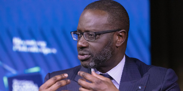 Tidjane Thiam, patron de Credit Suisse, à New York, le 25 septembre 2019