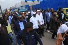 Jean-Marc Kabund-a-Kabund, lors d'une visite des chantiers des «sauts-de-mloutons», à Kinshasa, le 7 février 2020.