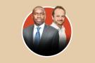 Omar Youm, ministre sénégalais des Infrastructures (à gauche), et Xavier Idier, DG de Senac SA, filiale d'Eiffage (à droite)