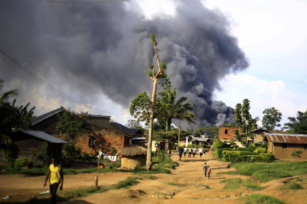 Lors d'une attaque attribuée aux rebelles ADF à Beni, le 25 novembre 2019.