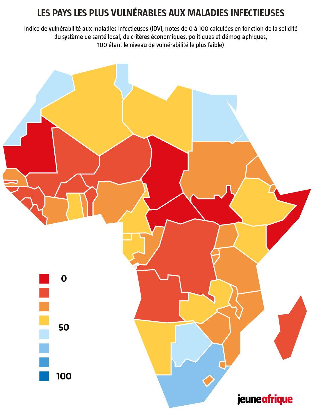 Coronavirus en Afrique : quels sont les pays les plus
