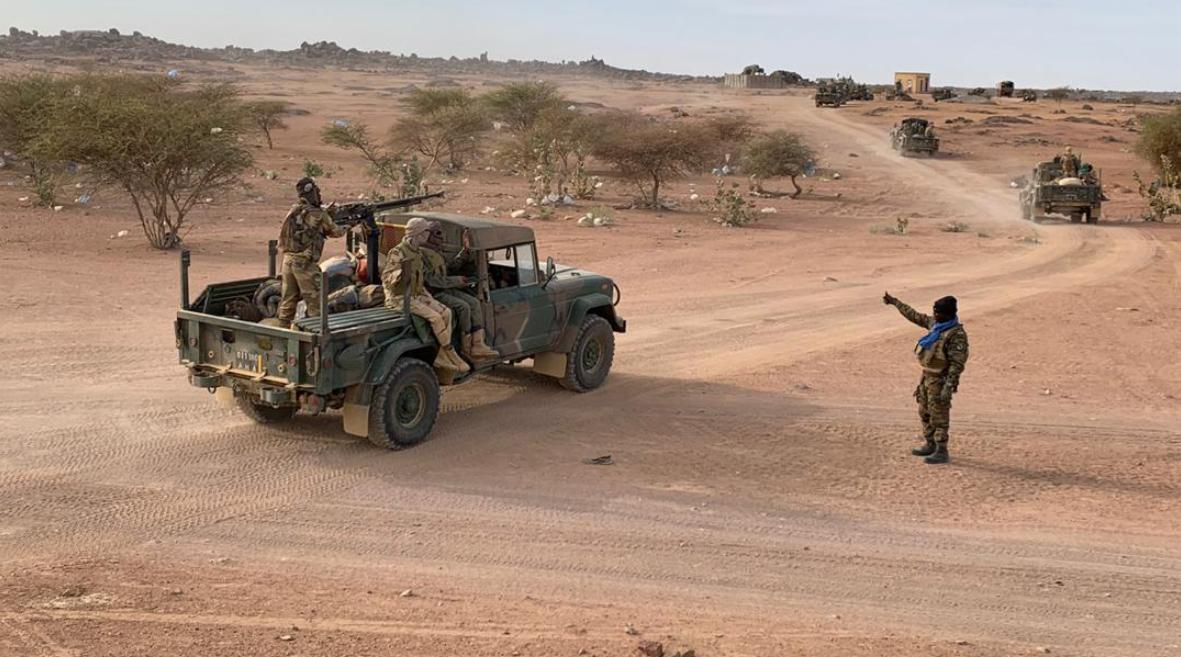 Arrivée de l'armée reconstituée à Kidal.