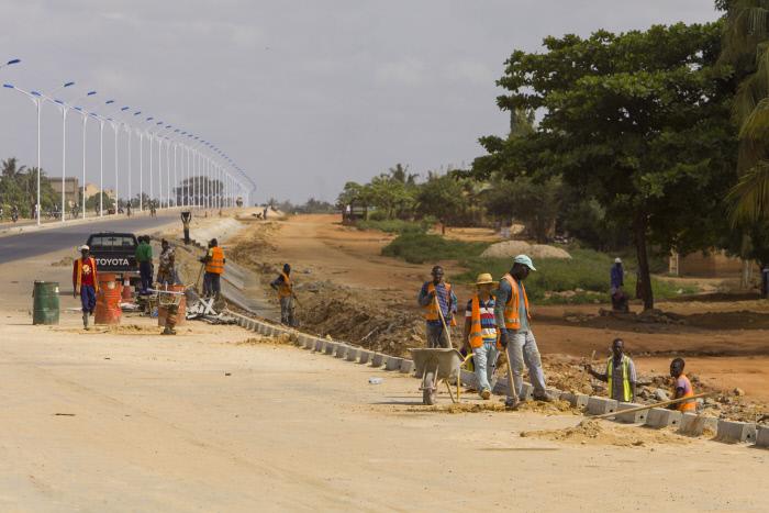 Chantier du grand contournement de Lomé, dirigé par une entreprise chinoise. (archives)